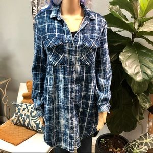 Cloth & Stone Plaid Tunic